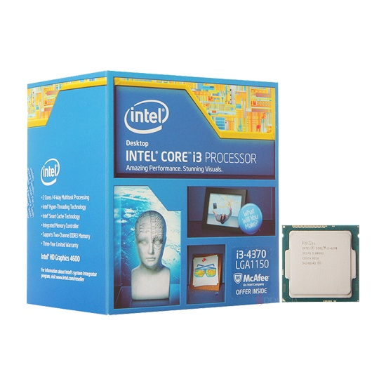 Intel Core i3-4370 Processor  (4M Cache, 3.80 GHz)