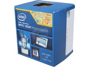 Intel Xeon Processor E3-1231 v3  (8M Cache, 3.40 GHz)