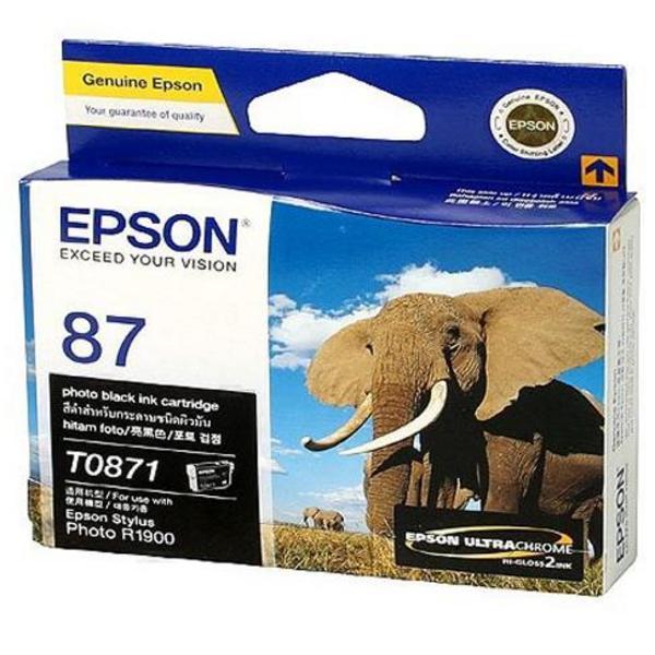 Mực in Epson 87 UltraChrome Hi-Gloss2 - Photo Black Ink Cartridge