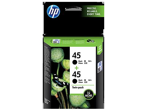 Mực in HP 45 2-pack Black Original Ink Cartridges (CC625AA)